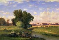 Hackensack Meadows, Sunset, 1859