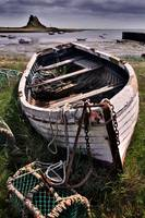 Old boat and lobster pots - Lindisfarne