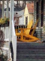 Yellow Adirondack Rocking Chairs