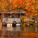"""Floating Camp on Ouachita River"" by Finchlake"