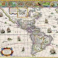 MAP OF SOUTH AMERICA CIRCA 1700 Art Prints & Posters by ART PICTURE