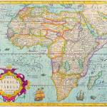 """AFRICA, ANCIENT OLD MAP OF AFRICA"" by imageworks"