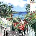 """Government Hill, St Thomas, USVI"" by kyaudeart"