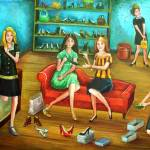 """""""Shopping for Shoes"""" by vicstan"""