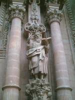 Statue on Taxco Cathedral by Front Door