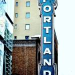 """Portland theatre sign"" by blkspruce"