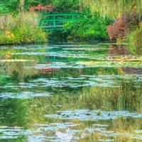 Monet's Lily Pond at Giverny, Green
