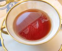 Reflection in tea cup