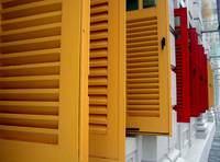 Shutters at the Ministry of Information, Singapore