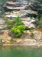 Rock Wall at Lake
