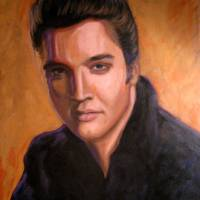 Portrait of Elvis Presley Art Prints & Posters by Shaun Cameron