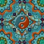 """Yin Yang Mandala_21b"" by ravenswingstudio"