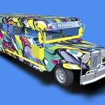 """Graffiti Covered Philippine Jeepney - 3D Model"" by WallArtDeco"