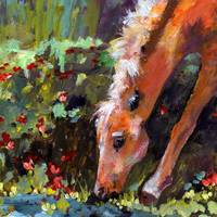 Green Pastures Original Painting by Ginette