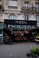 Happy, flower shop in Paris