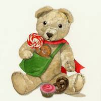 """Brown xmas teddy bear"" by Patrizia Donaera"