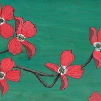 Pink Dogwood Art Prints & Posters by Kate Halpin