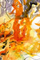Abstract All Consuming Fire #2 Orange Yellow