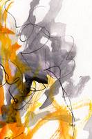 Abstract All Consuming Fire # 3 Orange Gray