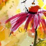 """""""Flowers & Bees bring Joy Watercolor & Ink"""" by GinetteCallaway"""
