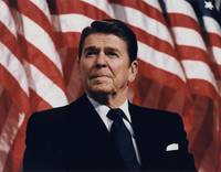 Ronald Reagan American Flag