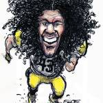 """Football - Silky Wildman Polamalu"" by PlayStrong"