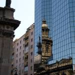 """Contrast of modern and historic in Santiago, Chila"" by karinm"