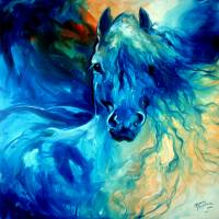 """EQUUS BLUE GHOST"" by MBaldwinFineArt2006"