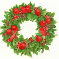 xmas wreath Art Prints & Posters by Patrizia Donaera