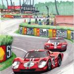 """1967 24 Hours of Le Mans"" by DavidJacksonArt"