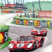 1967 24 Hours of Le Mans Art Prints & Posters by David Jackson