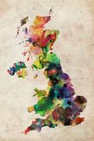 United Kingdom Watercolor Map