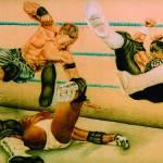 """Wrestlers"" by artofsarahcyr"