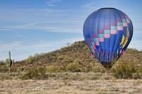 Blue Hot Air Balloon On The Desert