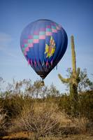 Hot Air Balloon Flight over the Lush Arizona Deser