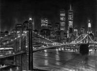 Brooklyn Bridge New York Pencil Drawing
