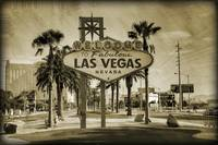 Welcome To Las Vegas Sign Series Sepia Grunge