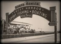 Santa Monica Pier Sign Series Vintage