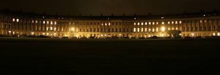 Royal Crescent in the rain