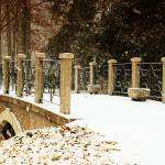 """Snowy winter bridge at Innis Woods"" by Dick_Wood"