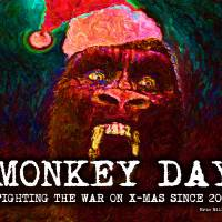 Santa Kong Monkey Day Art Prints & Posters by Eric Millikin