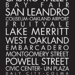 """Bay Area Transit Poster"" by hokas"
