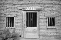 Old Western Jail House Black and White