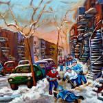 """DEBULLION STREET HOCKEY GAME"" by carolespandau"