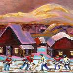 """POND HOCKEY COZY WINTER"" by carolespandau"