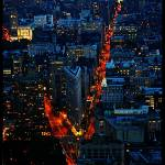 """""""Downtown Manhattan from the Empire State Building"""" by SanketBakshi"""
