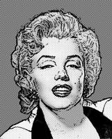 Marilyn Monroe - B&W - Dots
