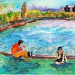 """Two people in the park"" by Danu"