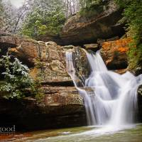 cedar falls in early march Art Prints & Posters by jaki miller