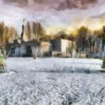 """Palmyra Temple Winter II"" by dbwalton"